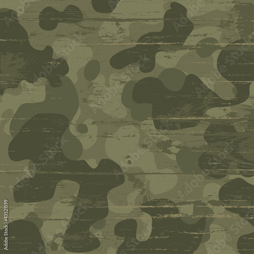 Fotografía  Camouflage military background. Vector illustration, EPS10