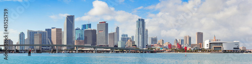 Canvas Print Miami city skyline