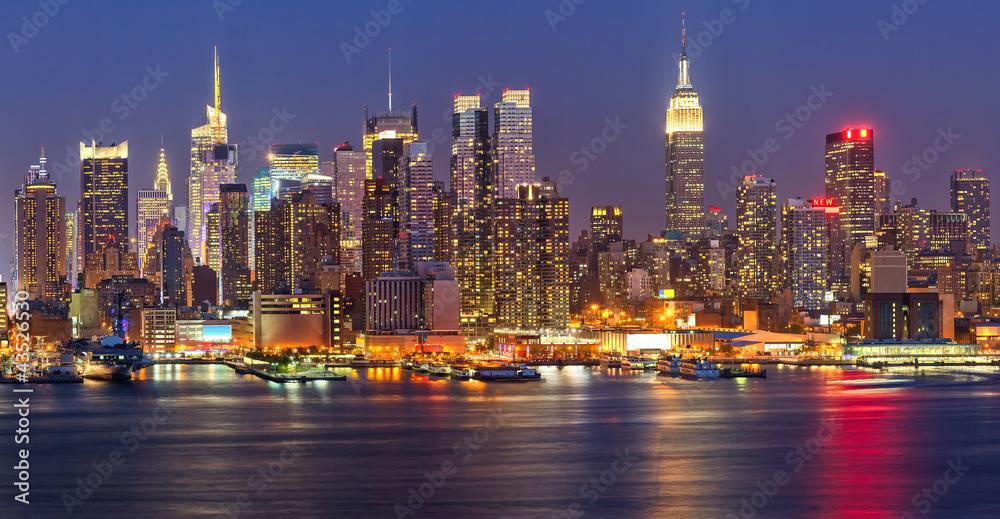 Fototapety, obrazy: Manhattan at night