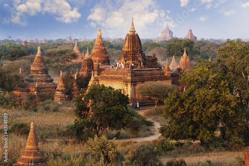 Photo  Bagan pagodas