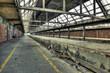 Abandoned platform at a derelict railway station