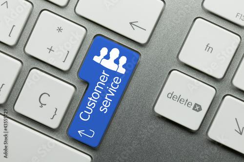 Customer service keyboard Canvas Print