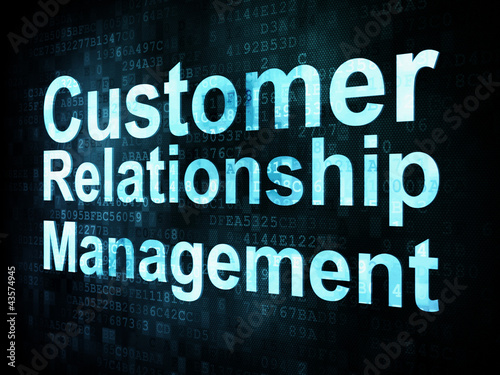Marketing concept: pixelated words Customer Relationship