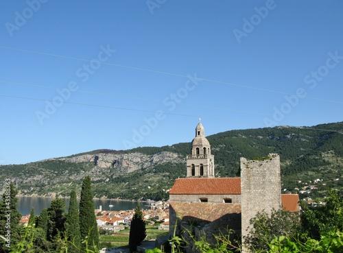 Fotografie, Obraz  A monastery at the island Vis in Croatia