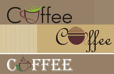 Fototapeta Do kawiarni Coffee and tea symbols and icons for food design