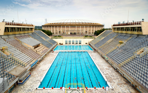 In de dag Stadion Sports swimming pool in Moscow