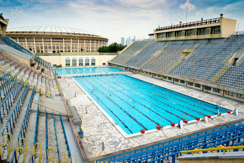 Foto op Plexiglas Stadion Sports swimming pool in Moscow