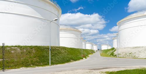 Photo  oil storage tanks