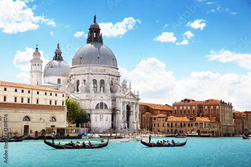 Poster Venise Grand Canal and Basilica Santa Maria della Salute, Venice, Italy