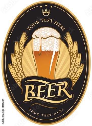 labels for the beer in the black gold color Tapéta, Fotótapéta