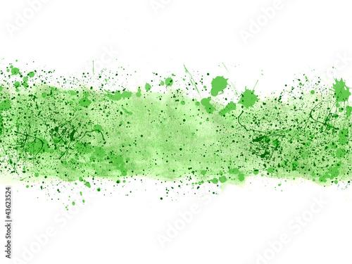 fototapeta na ścianę Fondo abstracto, ilustración, salpicadura, verde
