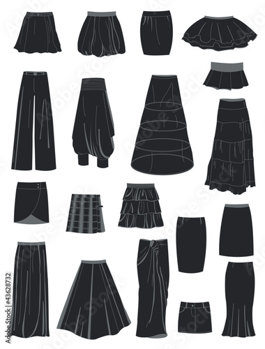Valokuva  A set of skirts
