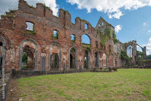 Deurstickers Rudnes Abbaye D'Aulne