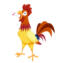 Cock Vector On White Background