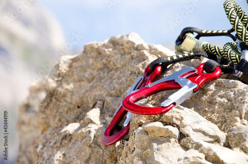 Foto op Canvas Alpinisme Kletterausrüstung