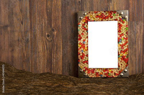 Colorful blank framework with candy pattern