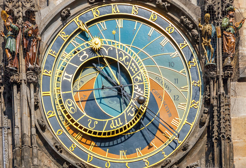 Staande foto Praag Astronomical clock on Town hall, Prague
