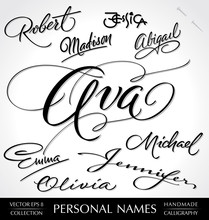 Names Hand Lettering (vector)