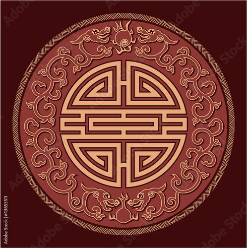 Oriental Feng Shui Pattern - 43655511
