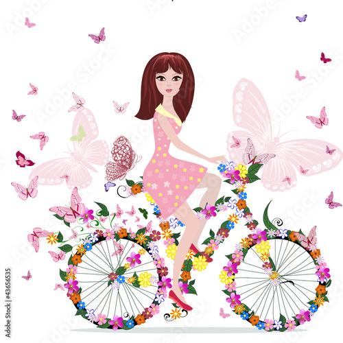 wiosenna-dziewczynka-na-rowerze-dla-dzieci