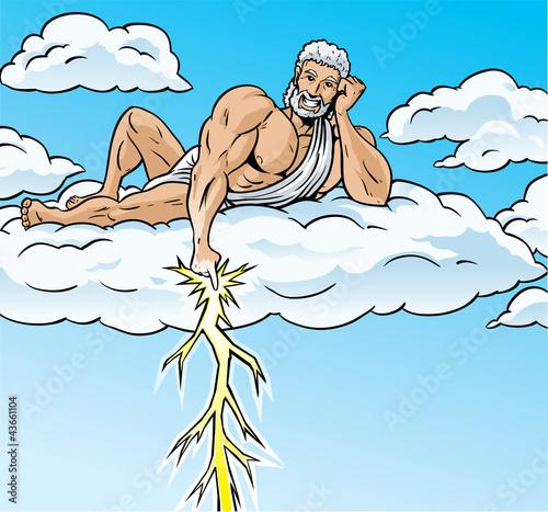 Zeus lightning Canvas Print