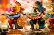 Leinwanddruck Bild - Mayan souvenir statues from Mexico