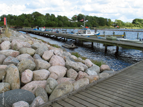 Fotobehang Pier Boat bridge