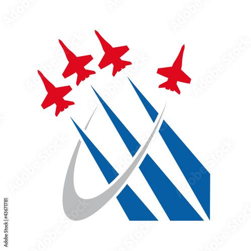 Fotografie, Obraz  Logo Airshow, airplane # Vector