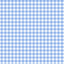 Blue Gingham Fabric Background