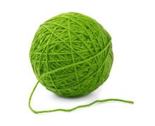 Green Wool Yarn Ball