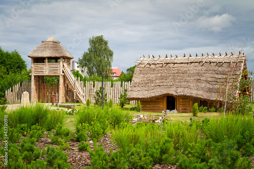 Ancient trading faktory village in Pruszcz Gdanski, Poland #43700918
