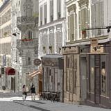 Ulica w Montmartre - 43704535