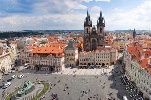 Staande foto Praag Prague city. Panorama