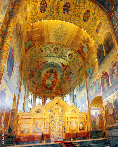 Interior of the Church of the Savior on Spilled Blood in St. Pet