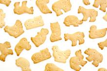 Animal Shaped Crackers Isolate...