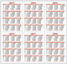 Set Calendar Grid Pocket Vector