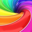 canvas print picture - abstract 3d colorful background