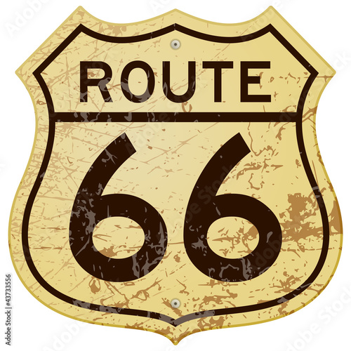 Rusty Route 66 Poster