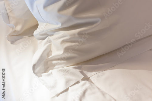 Photo Bed with fresh linen