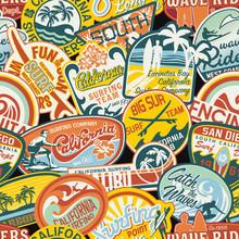 California Vintage Stickers Se...