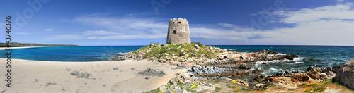 Panoramic view of Barisardo (Sardinia,Italy)