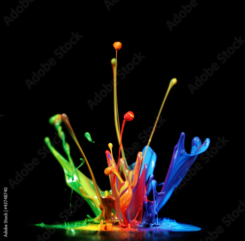 Acrylic Prints Form Paint splash