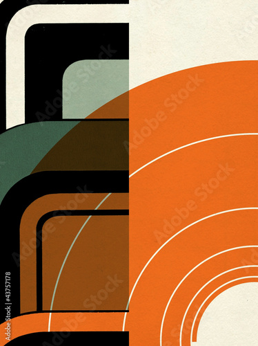 Foto  expressive abstract constructivism background