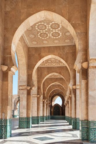 Hassan II Mosque interior Casablanca Morocco