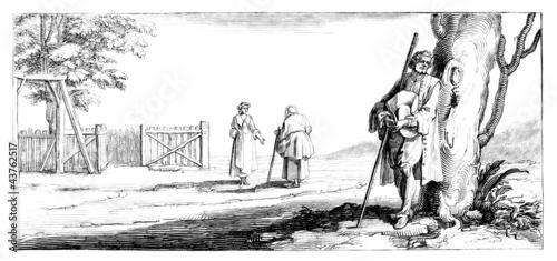 Photo Peasants - Scene 17th century