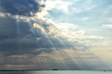 A Spectacular View Of Sunbeams...