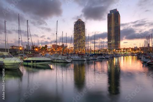 In de dag Barcelona Port Olimpic, Barcelona, Spain