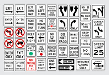 White Regulatory American Road Signs