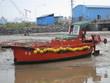 Frachtschiff vor shanghai