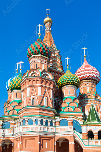 domes of Saint Basil's Cathedral in Moscow плакат